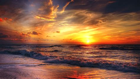 beach sunrise chromebook wallpaper ready