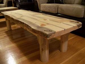 Beetle Kill Pine Slab Coffee Table - by RockyBlue
