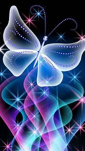 Neon, Pink, Butterfly, Wallpapers