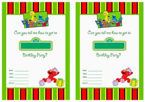 printable sesame street st birthday invitations