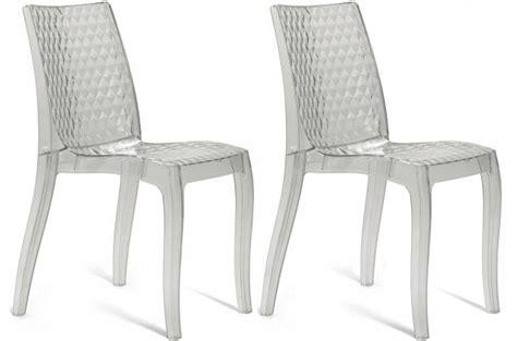 chaises transparentes pas cher lot de 2 chaises transparentes delphine design sur sofactory