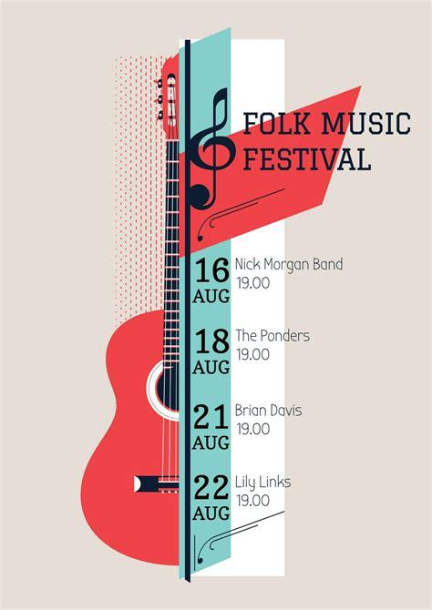 folk  festival poster poster xsm template