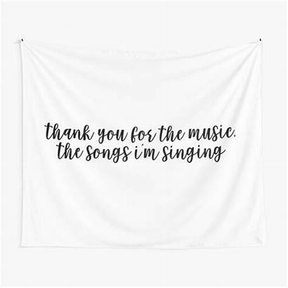 Alexa Singing Thank Tapestry Redbubble Songs