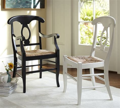 pottery barn napoleon chair honey napoleon seat chair traditional dining chairs