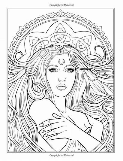 Coloring Pages Adult Books Fantasy Colouring Gothic