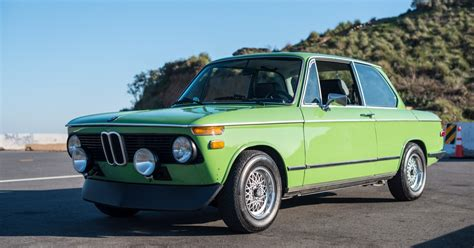 This Mint Green 1975 Bmw 2002 Is Characterized By Tasteful