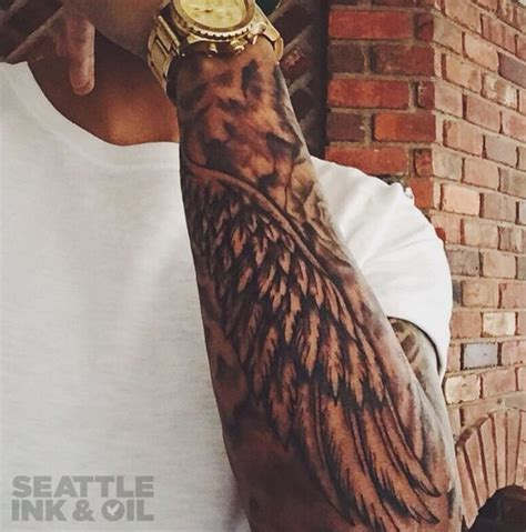 Black And Grey Wing Sleeve By Christopher Noogin Seattle