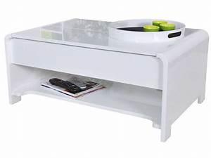 Conforama Table Basse : table basse duna coloris blanc conforama pickture ~ Teatrodelosmanantiales.com Idées de Décoration