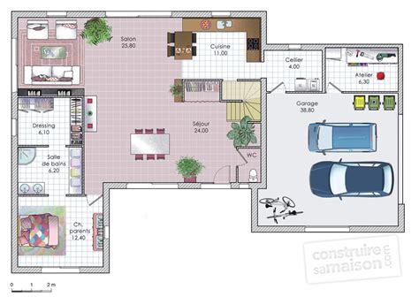 plan de maison plain pied gratuit 3 chambres maison moderne et fonctionnelle dé du plan de maison