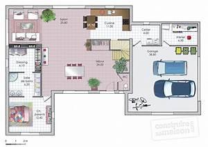 Plan Maison A Etage : maison moderne et fonctionnelle d tail du plan de maison moderne et fonctionnelle faire ~ Melissatoandfro.com Idées de Décoration
