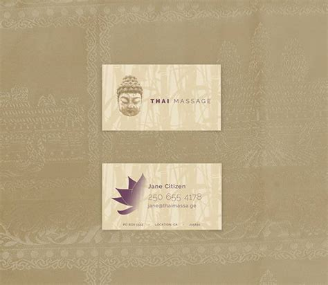 massage business card templates  word pages psd
