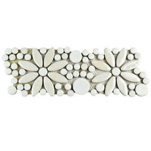 merola tile galaxy flower white 4 1 4 in x 12 3 4 in x