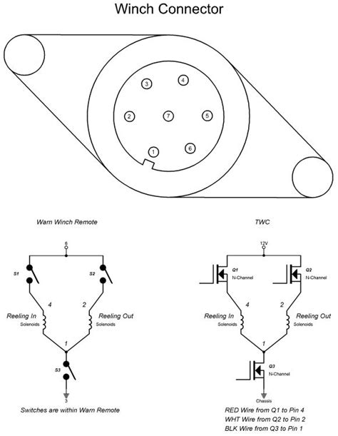 warn winch wireless remote wiring diagram warn winch