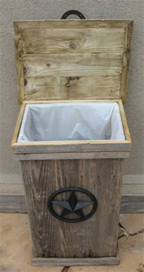 wood garbage  holder woodworking projects plans