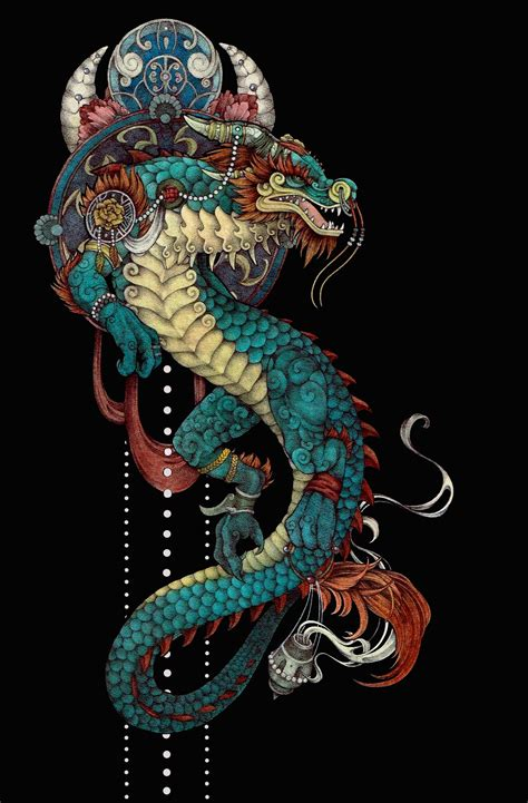 cloud serpent painting finished  morning   tats  ideas art