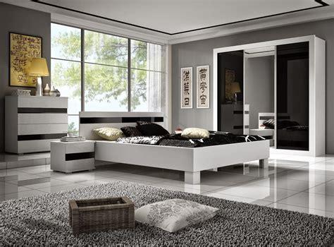 chambre moderne noir et blanc décoration chambre noir et blanc