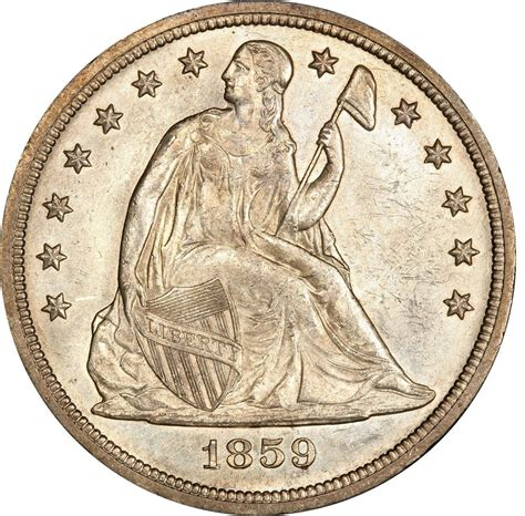 liberty dollar coin 1859 seated liberty silver dollar values and prices past sales coinvalues com