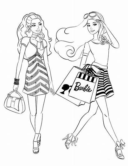 Coloring Pages Printable Clothing Barbie Popular