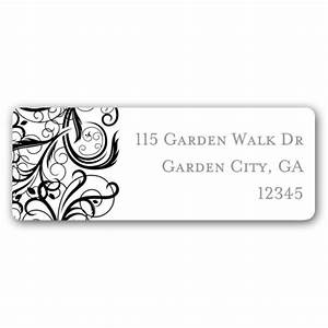Fancy vine bliss return address labels paperstyle for Fancy mailing labels