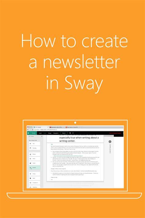 newsletters  team efforteffortlessly  sway