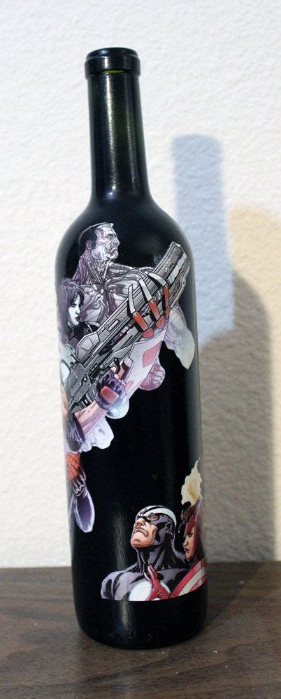 Marvel Comics Avengers XMen Wine Bottle Home Decor