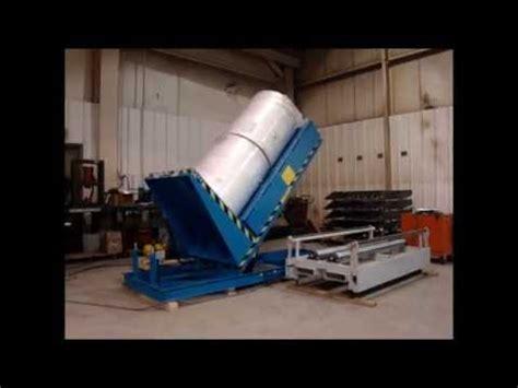 uni craft corp hydraulic roll upender youtube