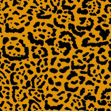 Jaguar Print Fabric by Jaguar Print Gold Wallpaper Curious Nook Spoonflower