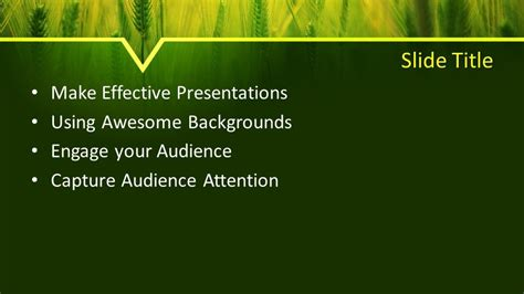 Free Barley PowerPoint Template - Free PowerPoint Templates