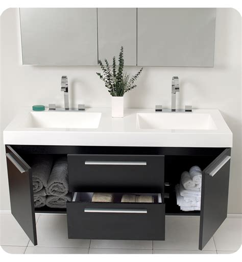 Small Two Sink Vanity by Small Vanity On