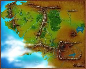 Map Of Middle Earth Wallpaper  U00b7 U2460 Wallpapertag