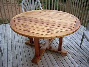 round wooden patio table plans woodideas