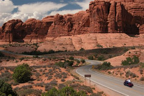 motorcycle road touring discover moab utah
