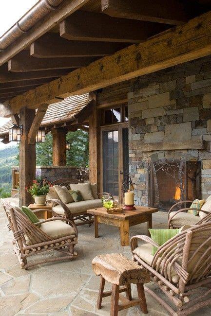 rustic porch 57 cozy rustic patio designs digsdigs