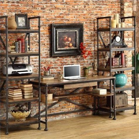 industrial style home office desk rustic industrial decor www thesellablehome co industrial