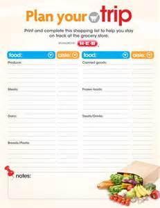 Free Printable Grocery List Template