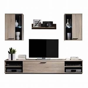 Tv Schrank Sonoma Eiche : wohnwand sonoma eiche mit led anbau schrank tv m bel wohnzimmer design modern ebay ~ Frokenaadalensverden.com Haus und Dekorationen