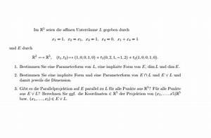 Punkte Durchschnitt Berechnen : parameterform affinen unterr ume parameterform mathelounge ~ Themetempest.com Abrechnung