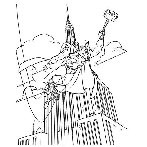 Kleurplaat Thor by Leuk Voor Thor In New York