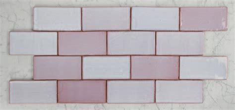 vm  vintage pink gloss handmade spanish subway