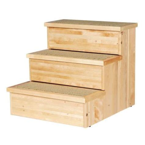 home depot wood stairs trixie natural birch wooden pet stairs 3943 the home depot