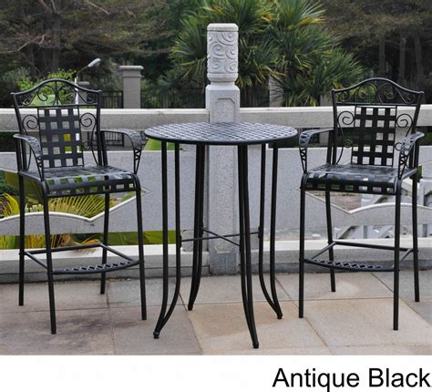 Table Sets Wrought Iron by Wrought Iron Bistro Set With Bar Table And Two Barstools