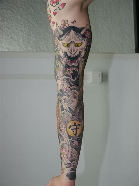 bras entier tatouage japonais lionl tatouage