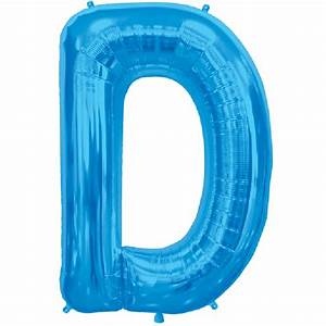 blue letter d 16 inch foil balloon With blue letter balloons