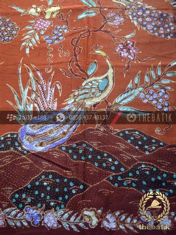 jual kain batik bahan baju motif remukan burung merak