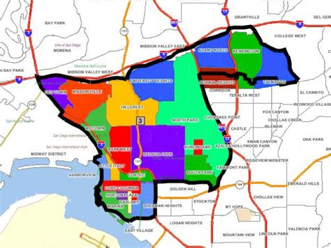 san diego l district task proposes new district 3 map at commission