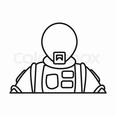 Helmet Space Drawing Vector Suit Clipartmag