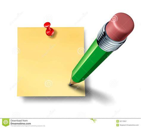 note sur le bureau inscription sur une note blanc de bureau avec le crayon