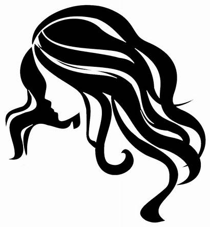 Clipart Silhouette Clip Parlour Cosmetologist Weave Female
