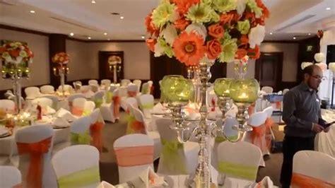 orange green wedding theme wedding flair