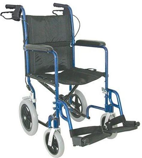 drive 22 bariatric aluminum transport chair with 12 rear